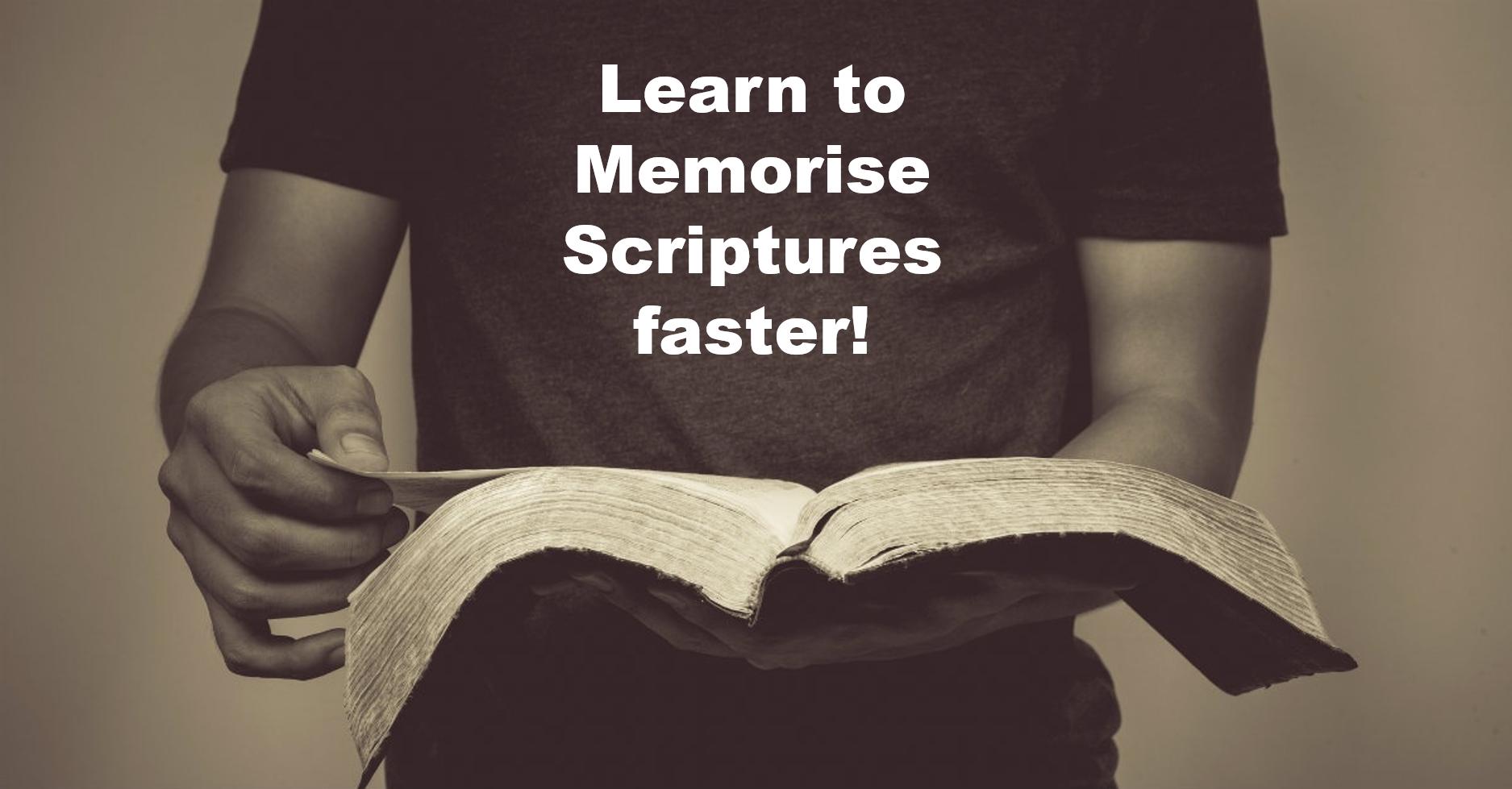 memorise scriptures